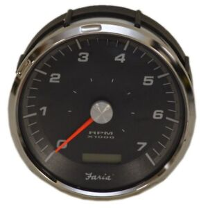 Faria-Boat-Tachometer-Gauge-THC616A-W-Hour-Meter-4-1-4-Inch-Black