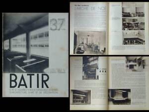 Batir N°37 1935 Cafe Cinema, Marcel Baugniet,pole Nord Bruxelles,colassin Stynen Marchandises De Haute Qualité