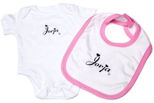 Baby Girl Clothing personnalisé Gilet Babygrow et bavoir bébé cadeau baby shower