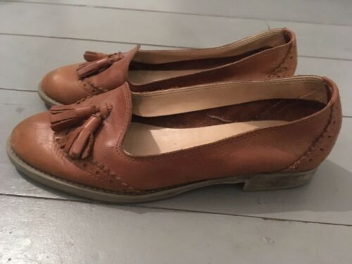 River Size Island Style Tan 38 Vintage Tassel Leather Loafers rwrXdq6