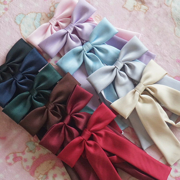 Pure Color Japanese School Girls JK Uniform BowKnot Tie Necktie Cosplay Lolita