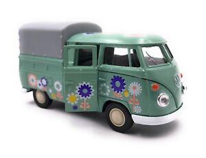 Voiture-miniature-t1-PICK-UP-BUS-CAMIONNETTE-fleurs-vert-voiture-echelle-1-34-39-LGPL