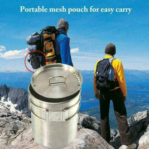 701-800ml Stainless Steel Camping Hiking Outdoor Kettle Coffee Pot Campfire R7N6