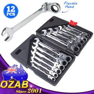 12Pcs-8-19mm-Flexible-Head-Ratchet-Gear-Spanner-Wrench-Set-CR-V-STEEL-Canvas