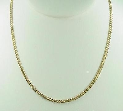 """New 20"""" 18K Gold Plated Cuban Curb Chain Link Necklace 2mm Lifetime Warranty"""