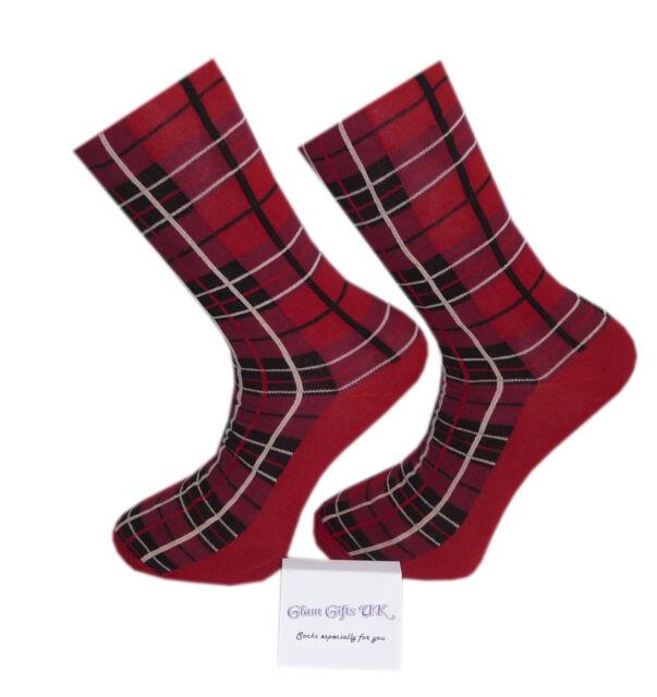 High Quality Red Tartan Socks Adults 6-11 Stretch Fit