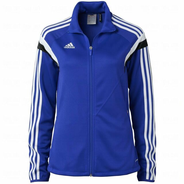 Adidas Women's Condivo 14 Training Jacket Ladies Track Top F76943 Royal Blue