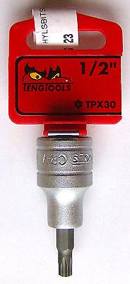 "XZN 144000304 Teng Tools M122808-C SPLINE #8 Long 12 point bit socket 1//2/"" dr"