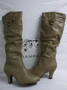 Rampage-Size-9-5-M-Estafania-Camel-Knee-High-Boots-New-Womens-Shoes