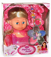Styling Head Style Hairdressing Doll Head Set With Accessories Girls