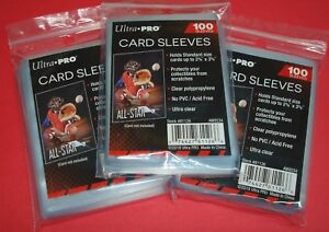 300-ULTRA-PRO-SOFT-TRADING-CARD-PENNY-SLEEVES-BASEBALL-MAGIC-POKEMON-FOOTBALL