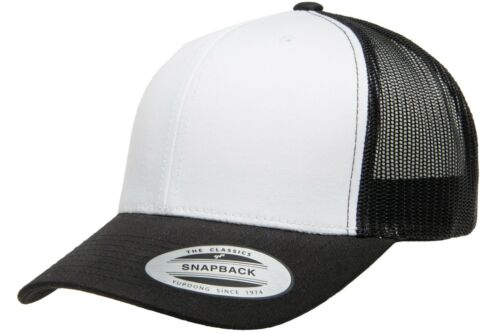 Yupoong Classic Blank Retro Cotton Trucker Mesh Cap Snapback Hat 6606 /& 6606T