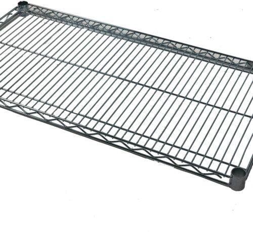 "48/""Wx18/""D Shelf Chrome Medium Duty Wire Shelving"