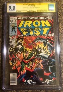 Signed-Stan-Lee-amp-Chris-Claremont-Iron-Fist-15-X-Men-Autograph-Marvel-CGC-9-0