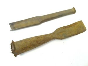 Woodworking Chisel Heads Tool Parts Sash Antique Rare Early 1800s Metal Tromson Ebay
