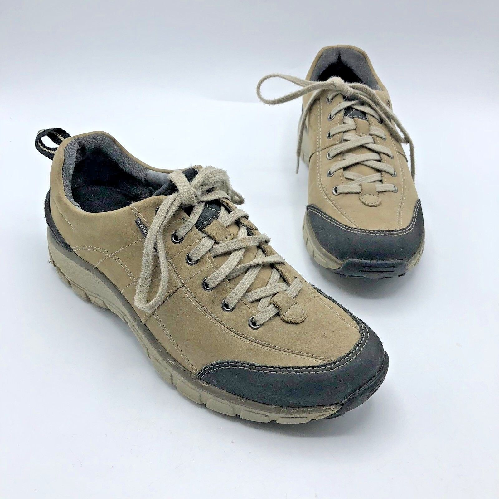 Clarks Wave Walk 26100949 Women Tan Waterproof Walking shoes Size 7.5M Pre Owned