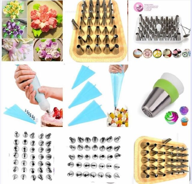 105pcs//set Russian Flower Icing Piping Nozzles Tips Pastry Bags DIY Baking Tool