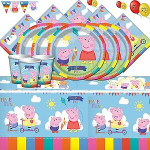 Peppa-Pig-Party-Supplies-Complete-Kit-Decorations-for-8-16-24-32-Guests