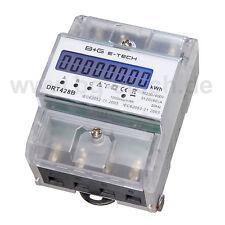 B+G e-tech - LCD 3 Phasen Drehstromzähler Stromzähler S0 LCD 20(80)A - DRT428B