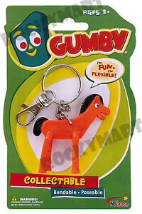 POKEY-KEY-CHAIN-From-Gumby-Bendable-Cartoon-Claymation-Toy-Figure-RM1750