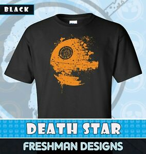 Star Wars Vader Obi Wan Rumblie in the Death Star White Mens Graphic T-Shirt New