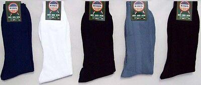 Hs920N ^* Asstd Colors  12 Pairs Lot Mens Nylon Dress Socks