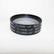 Genuine Sears Close-Up No. 1/ No. 2/ No. 3 49mm Lens Filter  kit Macro