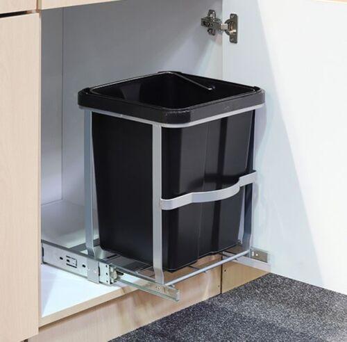 Teleskop Mülleimer Abfalleimer Einbaumülleimer Küchen Abfall Eimer 14 Liter