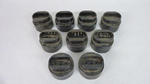 1 von 9 Stück Bakelit Kraftsteckdose 5 polig Sirokko DDR Bakelit Fundzustand