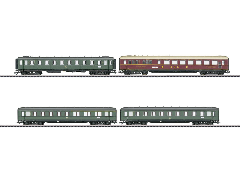 marklin 43279 Ensemble Train Express 4 monete à Locomotive à Vapeur Br 18 505 DB