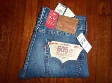 $148 LEVIS 505 C SLIM STRAIGHT LEG ZIP FLY RED LINE SELVEDGE DENIM JEANS 31x32