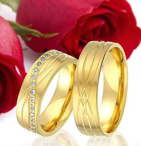 2-SILBER-Partner-Ringe-Trauringe-Eheringe-Gravur-Gratis-GOLD-Plattiert-T324