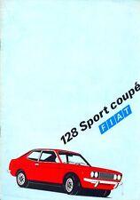 Fiat 128 Sport Coupe 1300 SL 1973 Swedish market colour sales brochure
