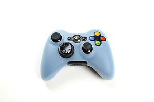 Xbox-360-Silikon-Schutzhuelle-Controller-Huelle-fuer-Xbox-360-Neu-Light-Blue