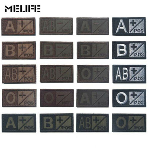 O B AB Positive POS A AB Negative Tactical B O Blood Type Group Patch A
