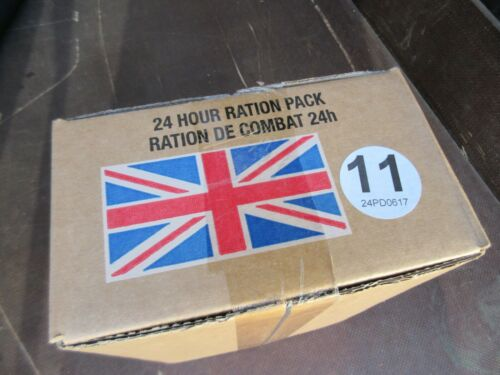 Orig British Armee MRE Menü MEAL READY TO EAT FOOD EPA Army NOTRATION Ration