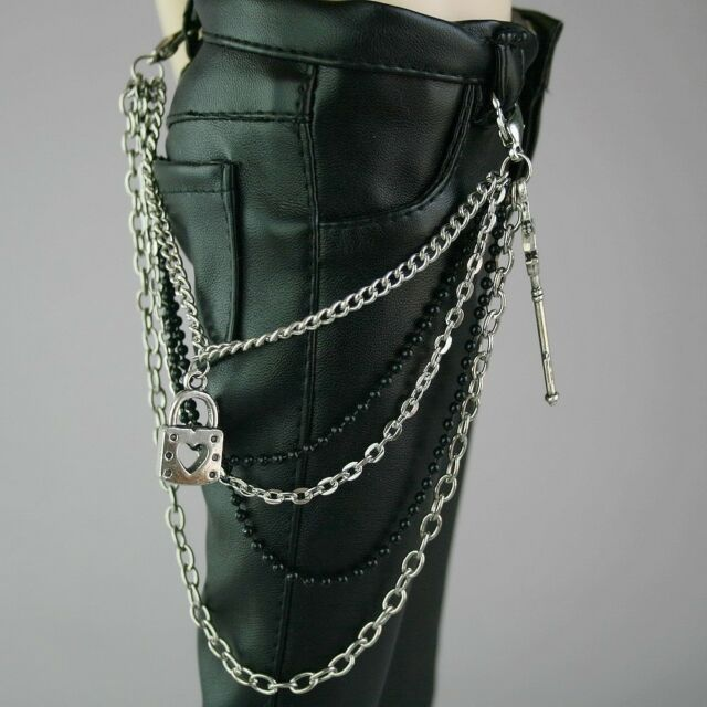 [wamami]16# Waist Chain Outfit 1/4 MSD DZ BJD Dollfie Silver Metal Lock
