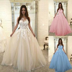Femmes-mode-dentelle-florale-mariage-mousseline-de-soie-robe-de-bal-robe