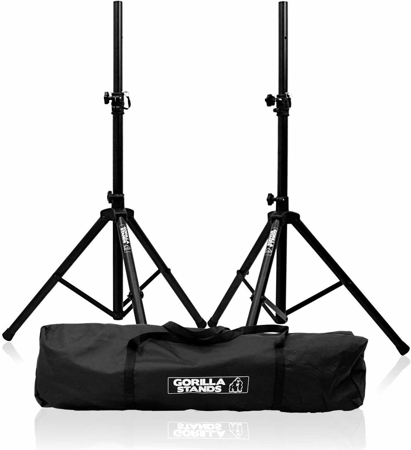 Gorilla Stands High GSS-KI Quality PA Speaker Tripod Stands kit with Bag Stand