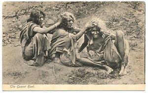 India vintage postcard Guzrat Hunt – Gujarati ladies lice hunt