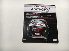 "Anchor Brand 43-113 Tape Measure 12' x 1/2"" Easy Read"