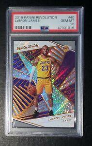 2018-Panini-Revolution-40-LeBron-James-Lakers-PSA-10-GEM-MT-New-Holder