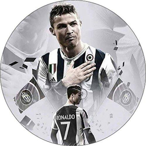 Waffle cr7 Cristiano Ronaldo Juventus C//round cake Ostia named