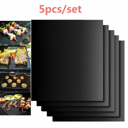 5 pièces réutilisable BBQ antiadhésif gril tapis feuille cuisson tapis pour