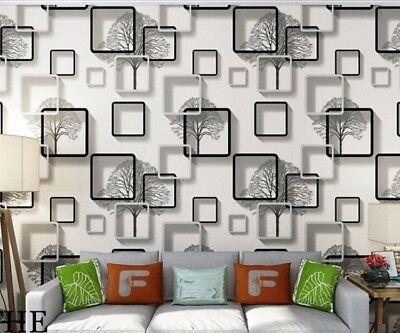 3D Wallpaper Modern for Living Room Vinyl Wall Paper Roll Background Home  Decor | eBay