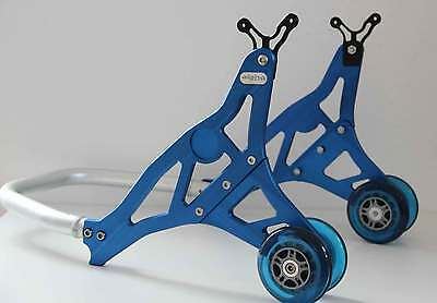 Accurato Alu Supporto Montaggio Blu Posteriore Alpha Racing Assembly Stand Rear Blue Bmw S 1000-