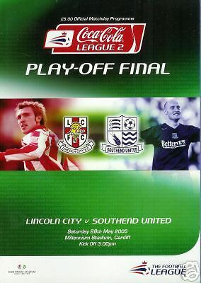 2005 PlayOffs, Lincoln City v Southend, FREE POSTAGE