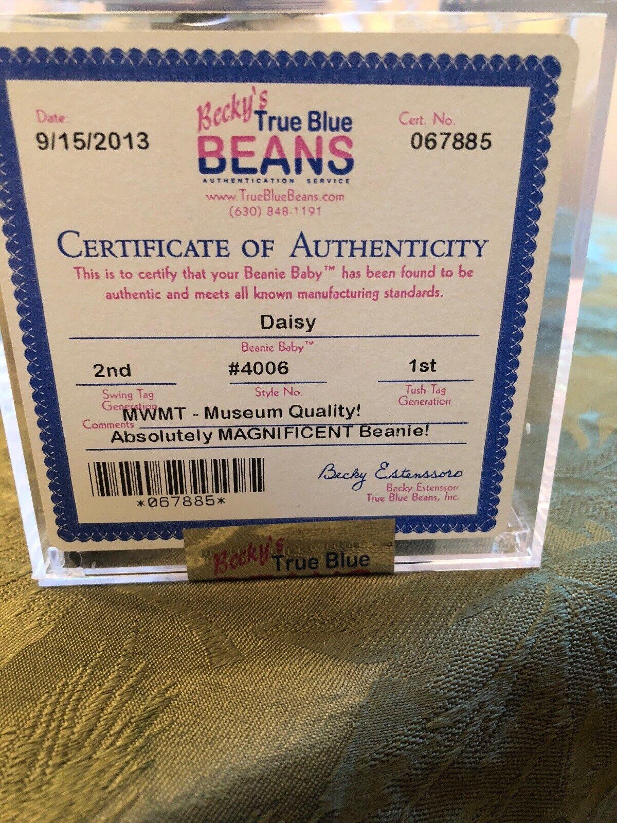 Beanie babie Daisy Daisy Daisy 2nd  1st c4af4f