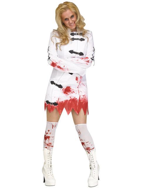 Blue Banana White Bloody Doctor Hospital Surgeon Halloween Fancy Dress Costume