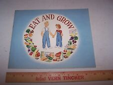 1946 GENERAL MILLS Food Health Education Booklet Teaching Aid TEACHER ESTATE